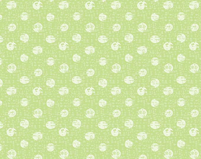 Kanvas for Benartex - Sweet Safari - Textured Dots - Dots - Safari -  Green - 9898-44 -  Animal fabric - Baby Fabric - Sold by the Yard