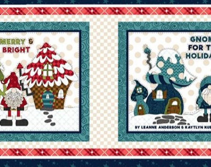 Henry Glass - Gnome for the Holidays  - Gnome Book Panel - Gnome - Gnomes - Q9618P-77 - Multi - Sold by the Panel