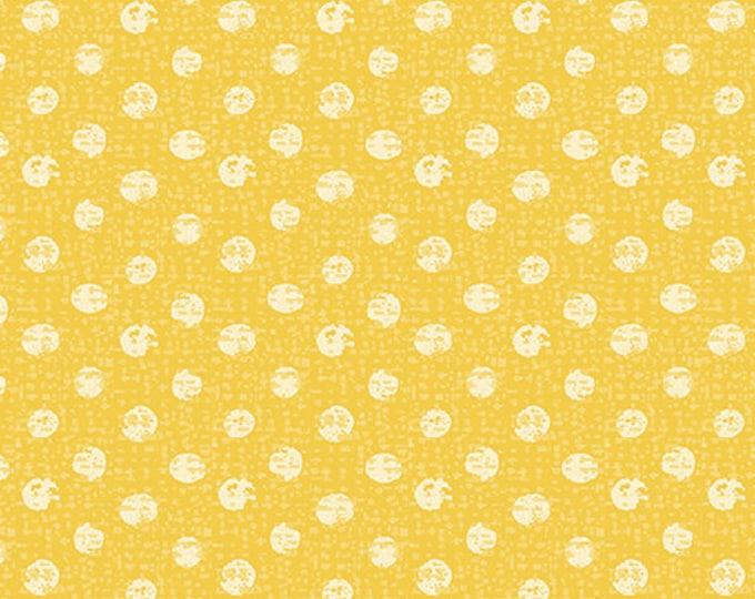 Kanvas for Benartex - Sweet Safari - Textured Dots - Dots - Safari -  Yellow - 9898-33 -  Animal fabric - Baby Fabric - Sold by the Yard
