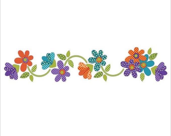 Urban Elementz - Applique Elementz - Daisy Dotz - Multi colored Floral - Precut/Fused Applique Kit including Pattern with Steam a Seam 2