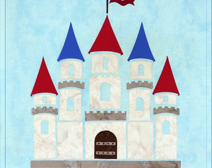 "Sew Enchanted - Castle - Pre-cut/fused Kit - 15""x15"" - Precut/Fused Applique Kit - precut kit -  Sold by the Kit"
