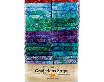 Northcott - Stonehenge Gradation - Bright - RSTONE8-102 - Jelly Roll Pack