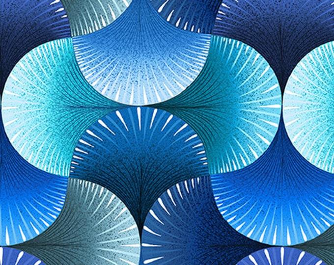 """Blank Quilting - Lutece - Fan -  Fan Texture - Wide Back - Blue  - 108"""" Wide - 1604-77 - Sold by the Yard - 36"""" x 108"""""""