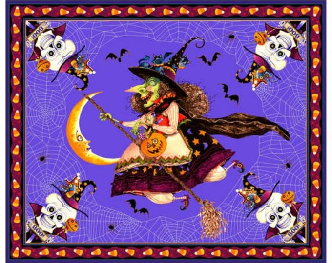 """Blank Quilting - Witchful Thinking  - Panel - Witch Panel -  1543P-55- 36""""x44"""" - Halloween Panel - Sold by the Panel"""