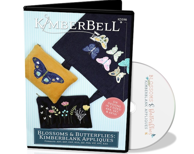 New Kimberbell - Blossoms and Butterflies CD - Embroidery Designs  - Butterfly - Butterflies -  Sold by the cd