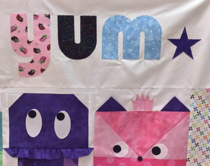 2019 Row by Row Juniors Yum and Stars Kit - Taste the Experience -  Yum Kits - Word Kit - Stars - Applique and Fused - Pre-Order