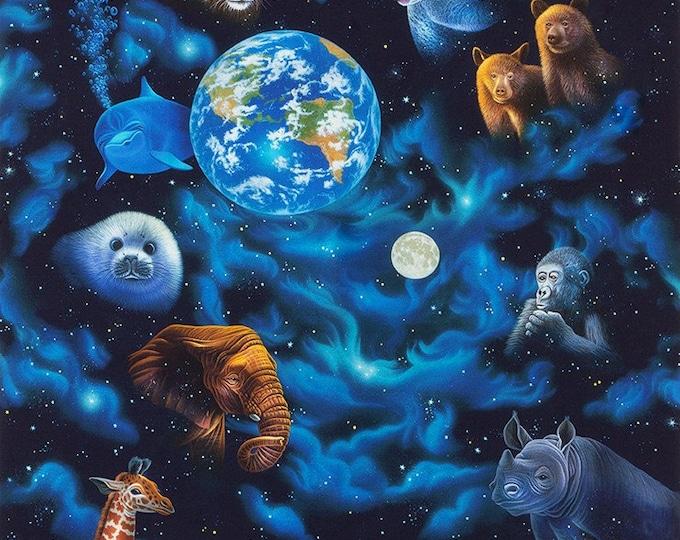 Robert Kaufman - The Living Univers - Animal - Planet Earth - Earth Panel - AVRD 18881-325 23  -  Panel - Sold by Panel