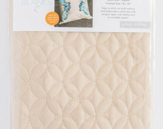 Kimberbell - Quilted Pillow Cover - Sand - 18x18 - Sold by the Pillow Cover Blank