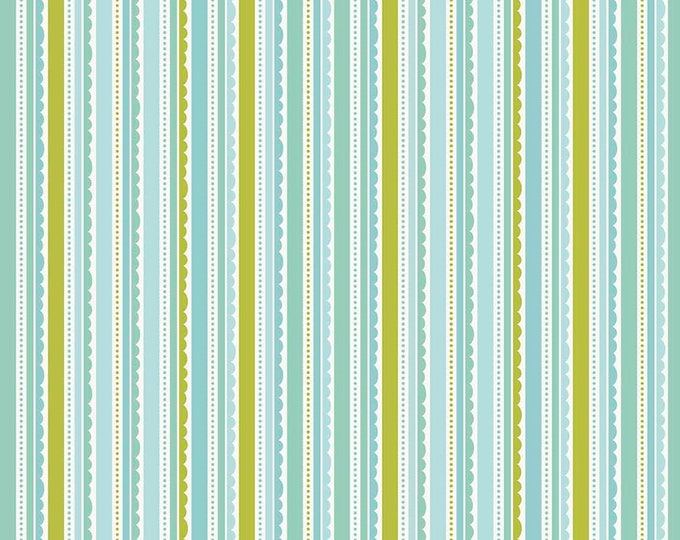 Riley Blake - Happy Stripe - Aqua - C5915