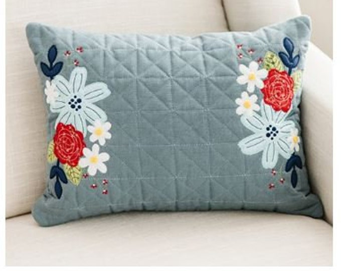 Kimberbell - Home of the Bloom - July Fill in the Blank - July 2021 - Blank ONLY - Quilted Pillow Cover - Sold by the Blank