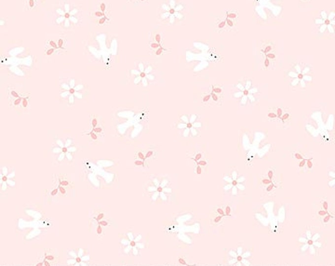 New - Northcott - Hello Little One - Pink Birds - Animal Baby Print - Baby Pastel - Baby - Pastel - 22696-21 -  Sold by yard