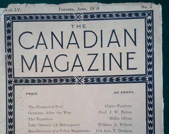 The Canadian Magazine Vol. LV, No. 2. Toronto, June, 1920.
