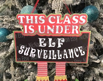 Elf Surveillance Hanger For The Classroom