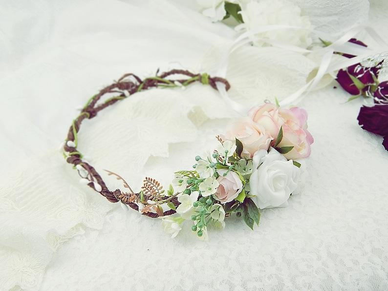 Wedding Tiara Wedding hair wreath Flower Crown Hair Accessories Hair Wreath Bridal headpiece Flower wreath Bridal flowers Vintage