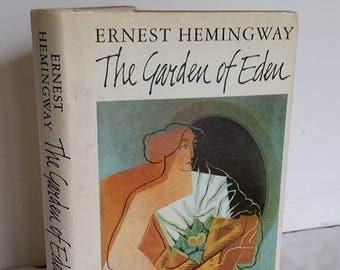 Vintage Hemingway Book, The Garden of Eden, Hardback, Hardcover, 1986, literary fiction, classic american author