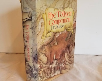 Vintage Book, Hardcover, Tolkien Companion, 1976, Pan Books, Lord of the Rings, Gift Book, J E A Tyler, Middle Earth