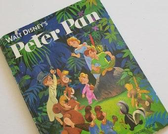 Peter Pan, Vintage Book, Walt Disney, A Golden Book, 1982 edition