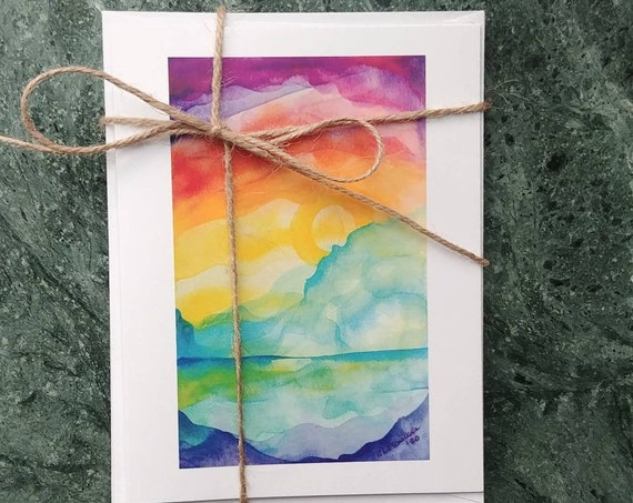 Note Cards, Rainbow Mountain