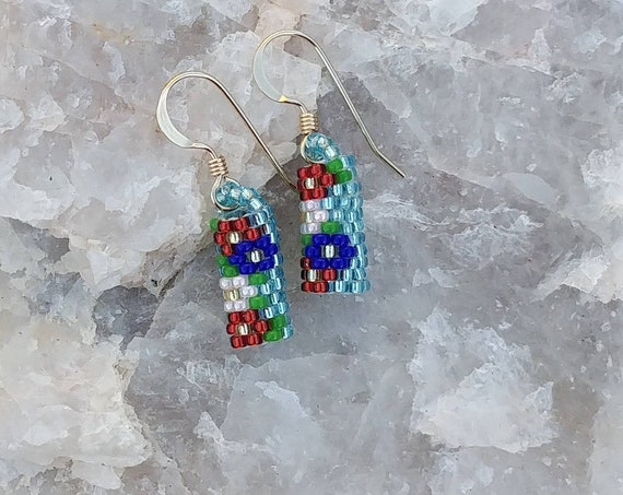 Beaded Cylinder Earrings