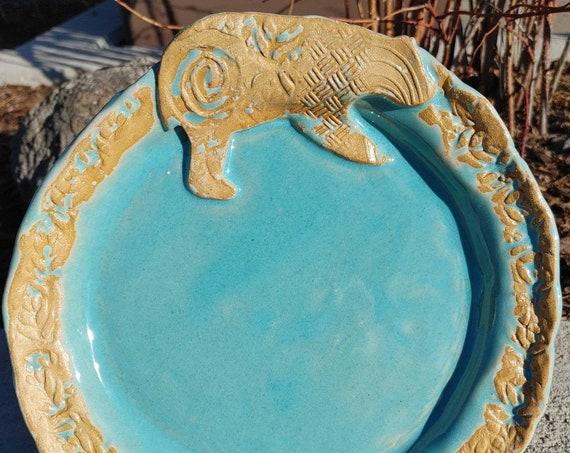 Pottery Bear Plate