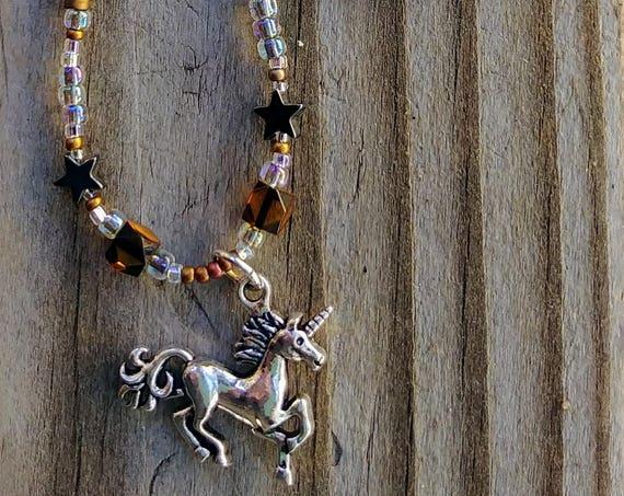 Unicorn Necklace in Bronze