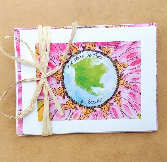 Note Cards, Let There be Bees on Earth