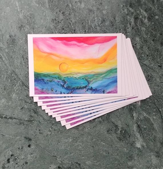 Postcard, Rainbow Donner Lake