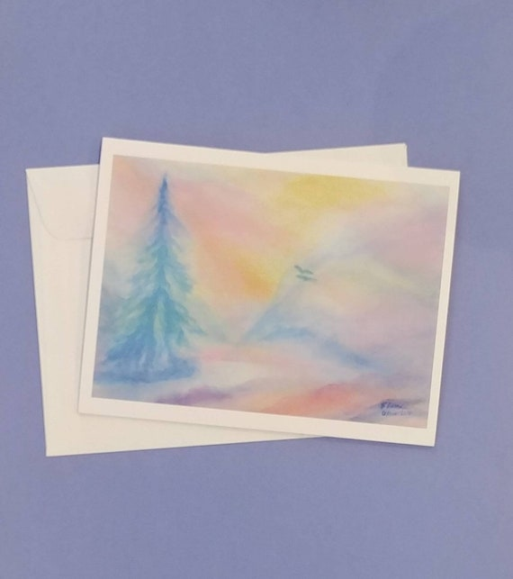The Healing Lake Note Cards
