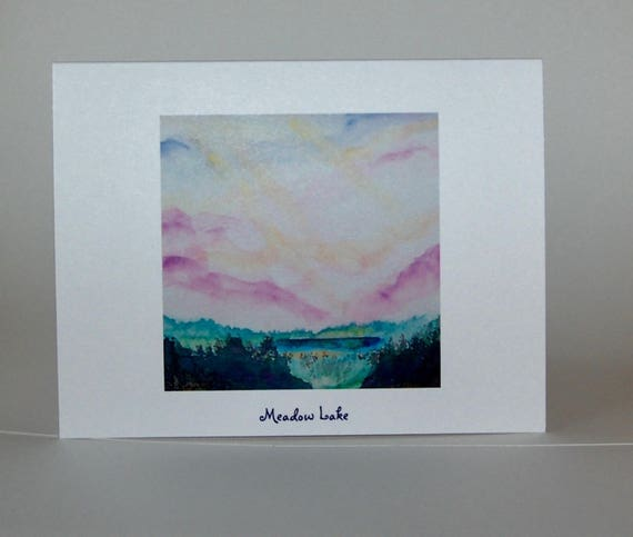 Meadow Lake, note cards