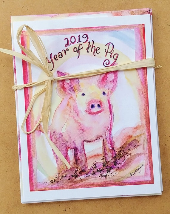 Year of the Pig Note Cards