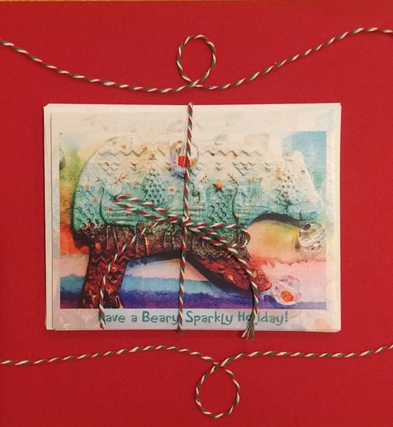 Have a Beary Sparkly Holiday, card pack