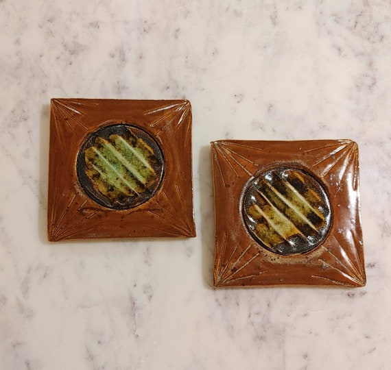 Pottery Coasters, set of two