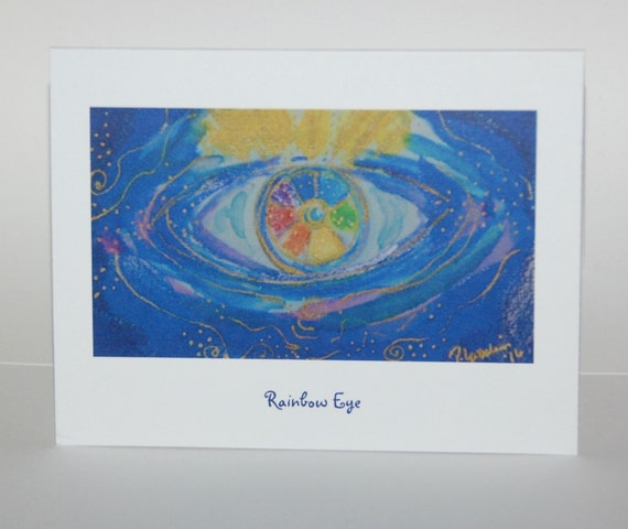 Rainbow Eye, note cards
