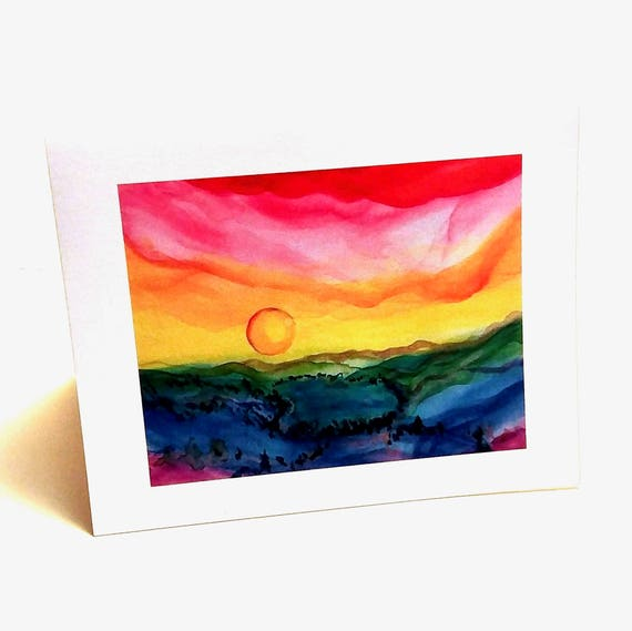 Rainbow Donner Lake Note Cards