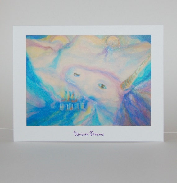 Unicorn Dreams, note cards
