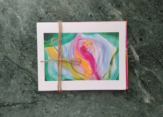 Note Cards, Organic Floral