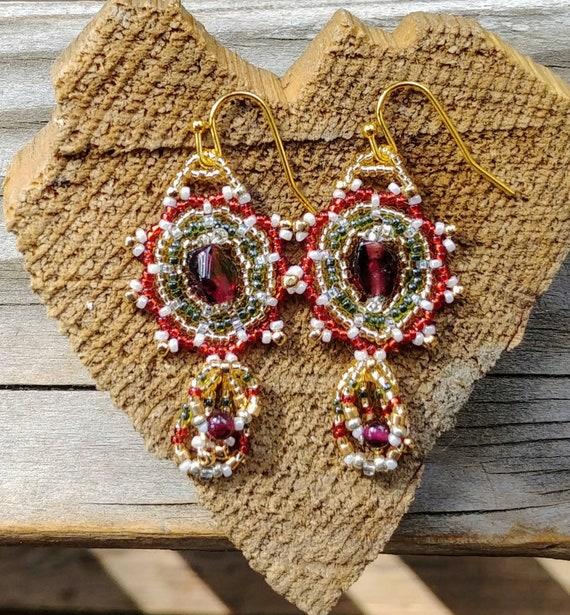 Romantic Garnet Earrings