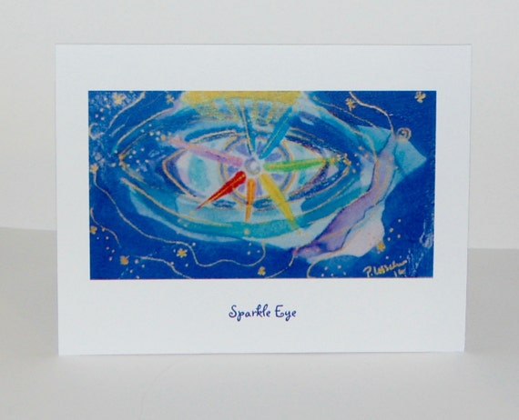 Note Cards with Sparkle Eye