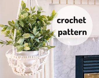 Diamond Plant Hanger Pattern, Crochet Plant Hanger