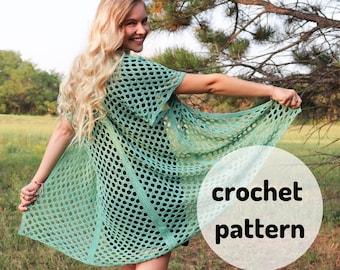 Honeycomb Beach Cardi PATTERN // Sizes XS-6X, Crochet Cardigan, Beach Cardigan