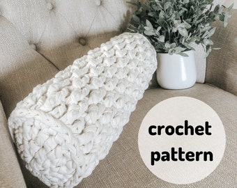 Versatile Bolster Pillow Pattern // Crochet Pillow, Bolster Pillow