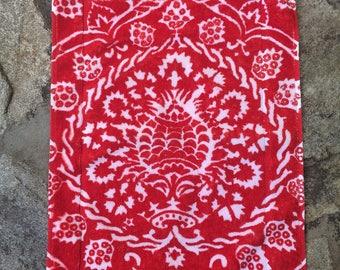 Fresco Towels - Bohemian Damask Red - Small Bath Mat