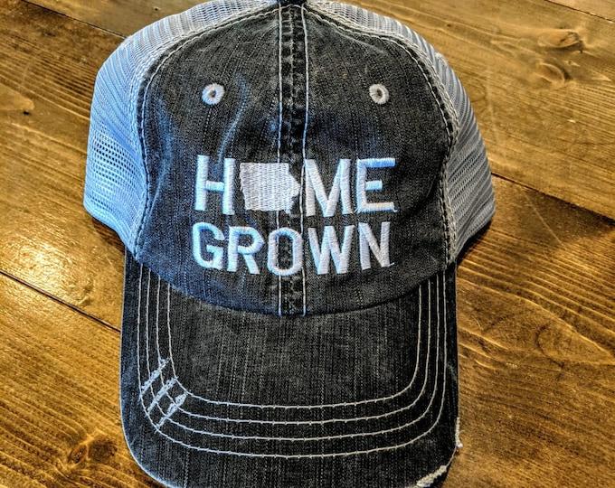 Home Grown - Iowa - Distressed Baseball Cap