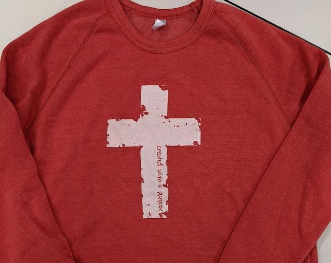 Created with a purpose - Crewneck Sweatshirt