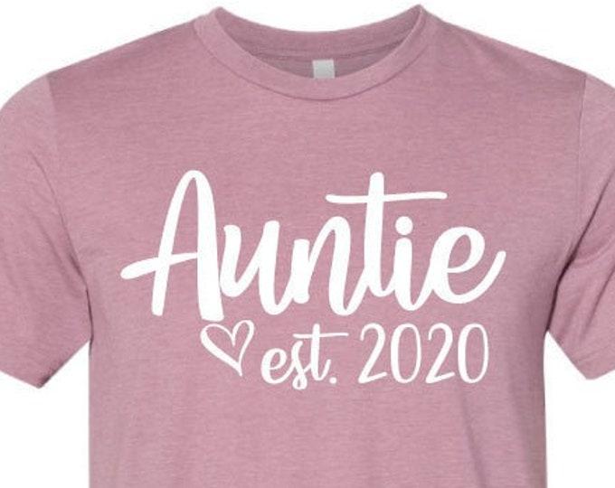 Auntie est. 2020 - T-Shirt