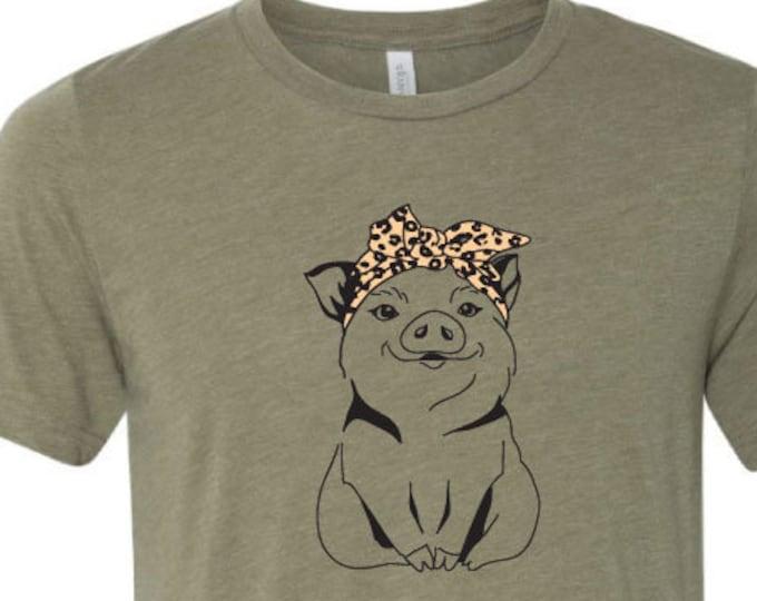 Bandanna Cheetah Pig- Tee