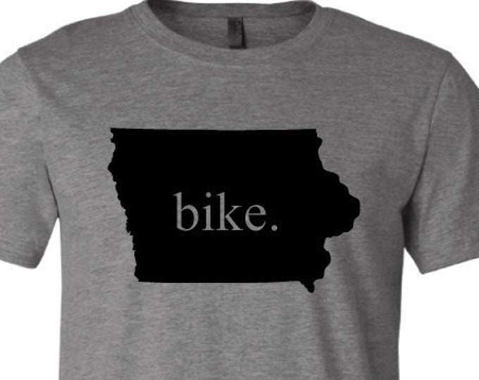 Bike- Iowa - T-Shirt
