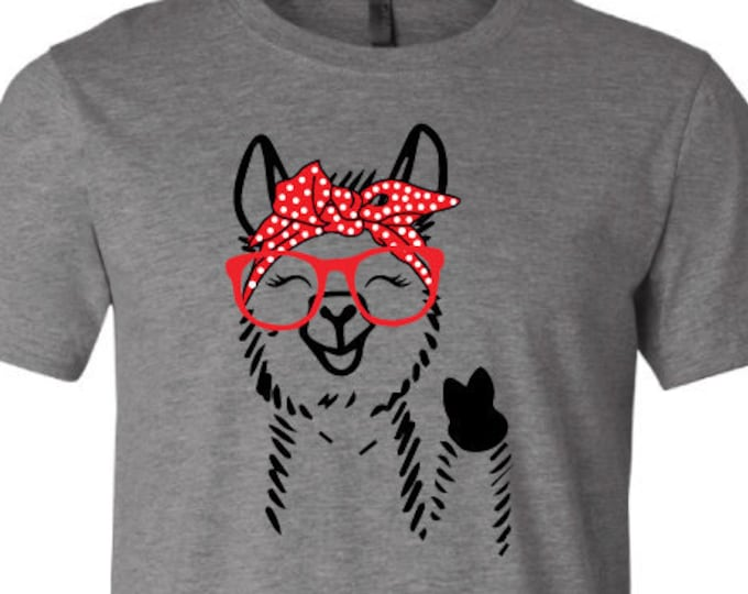 Bandanna Llama - T-Shirt