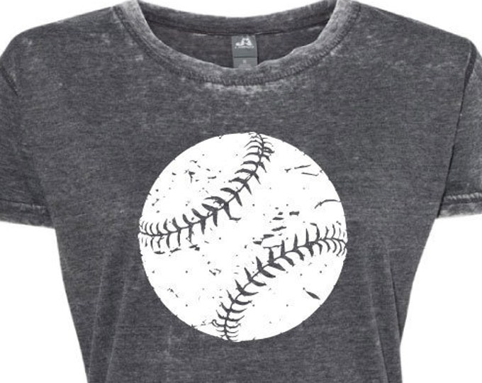 Distressed Ball - Baseball - Softball - Short Sleeve T-Shirt