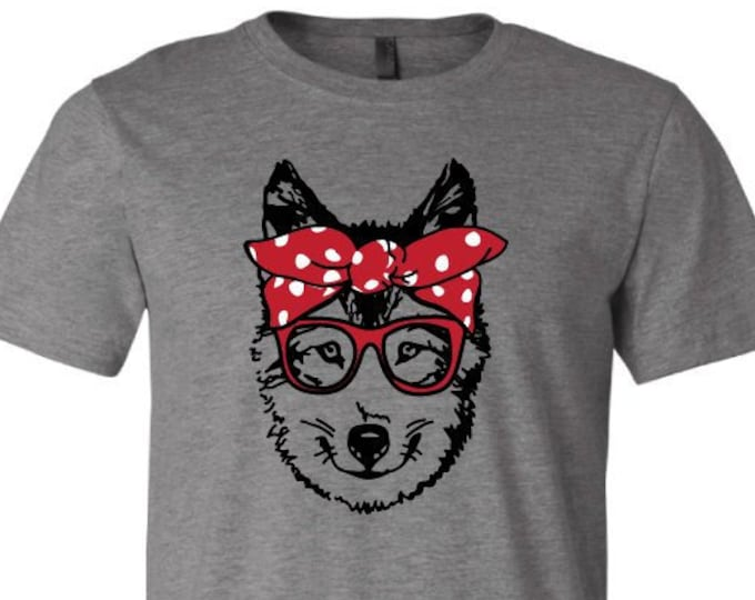 Bandanna Husky Dog - T-Shirt